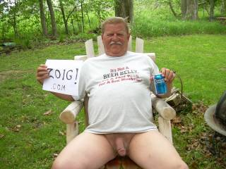 Well if your in the woods I must first have to get your cock sucked and have a beer with you! Cheers mate! xx