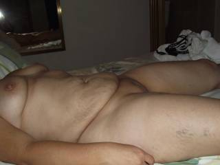 I want to get between her big chunky thighs and give her fat pussy a good fucking , watching hwe big tits and huge flabby belly wobble as i shot my cum deep inside her willing cunt