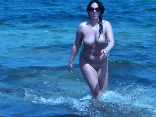 Too much water covering your sexy naked body.  Definitely wanted to see more your cheeks too!  Very enticing and very sexy....just gorgeous.