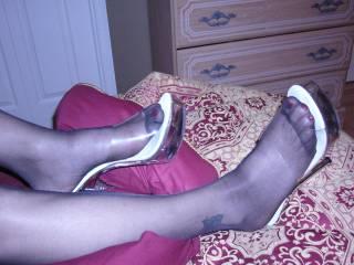 My pretty feet in high heels pretty