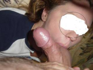 I love sucking on a nice pair of shaved balls before swallowing the cum they hold
