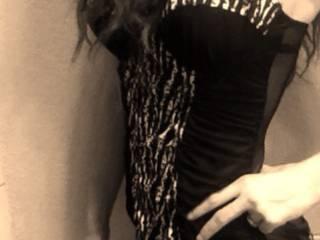 Black and white lingerie photo
