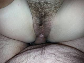 Found a new playmate today.  Been a while since I\'ve had a hairy pussy.  Well used but fun!