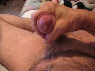 Nice wank , I love your uncut cock and the cumshot ,it reminds me of the fun I have with mine.