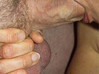 eating my big  fat cock