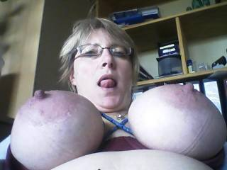 When I see your photo... it makes me wanting to cum on you.....I love these hard nipples... and I could spend hours feeling this tongue on me...
