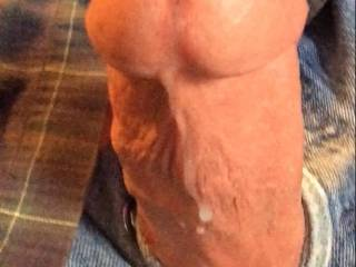 Just pulled out of a nice pussy after delivering a load.