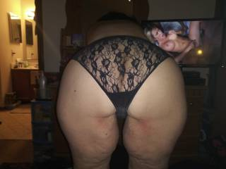 Showing off my new panties.