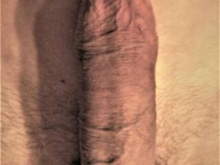 MLy 17 cm penis just after a nice wank while watching a beautiful girl showing her open pussy and clit.