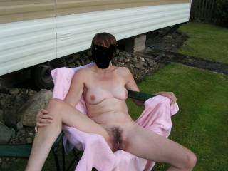 took some pics at the ccaravan site. didnt know the guy next door was watching.im sure these pics gave him a hard on . what do you think?