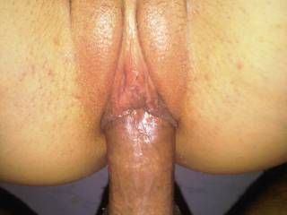 close up of my cock in her pussy