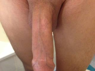 so much better shaven clean could suck your balls and your cock it is big though