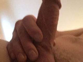 My dick after I just filled this little slut with cum