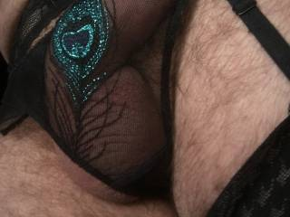 Playing in my wife panties....