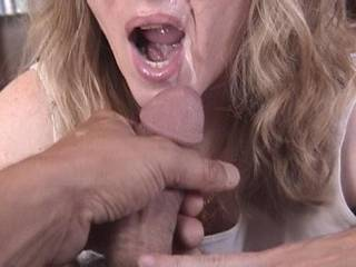 ~wide grin~ she's already made my cock hard and throbbing and my balls swell with hot cum and ache to feel the pleasure of her lips and tongue...am wishing i was there to give it all to her :)