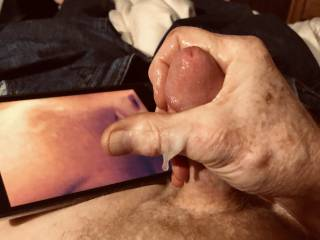 Loved watching this video and it felt so good cuming and squeezing the jism out of my cock.