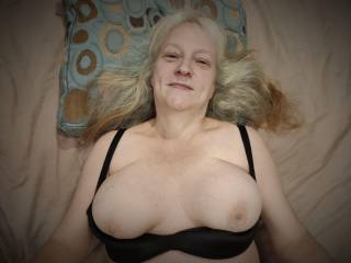 How about unloading your wonderful cum on this married woman's big breasts? My tits need to be covered with hot, sticky love juice. Stroke your hard and throbbing cock in front of Hubby before I clean you up with my mouth. Mmm...