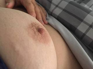 Look at the size of her big tit and nipple Wouldn't you just love to suck it I did comment pls