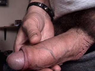nothing like a thick uncut cock to  slow suck on all night long,awesome!!