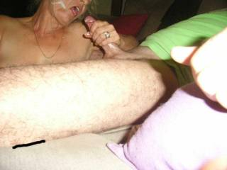 He  blows on her face and in her mouth. She loves cum in her mouth and wants more