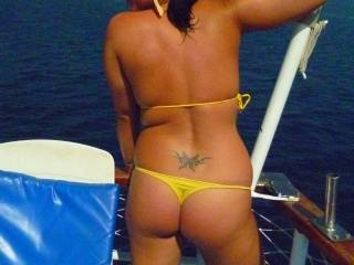 Great looking ass we would love to see you on the lake ps hot tat