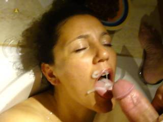 she is so beautiful! Just the thought of shooting my hot load over her pretty face almost makes me cum...