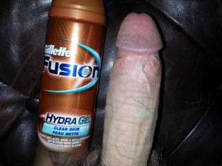 dick next to shaving cream
