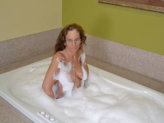 Hmmmm I'd love to join you! As long as I get to soap up those gorgeous tits!