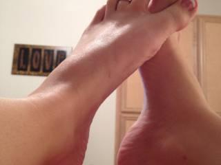 sending pics of my pretty feet