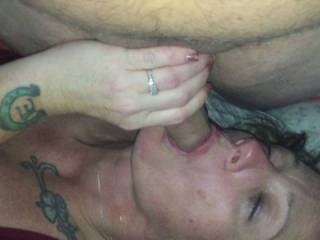 He tried to keep from cumming but he said FUCK IT!