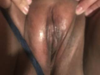 My babes pussy about to get wett