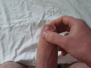 my cockrings in place and my cock nice and hard! let the cum fly!