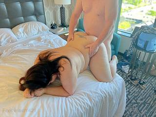 Mrs. Nasty being fucked from behind by our friend!