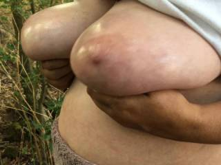 1 of 2 - here are three different exercises with big oiled tits. Then repeat