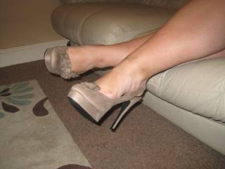 love to slip those shoes off and kiss your legs all over