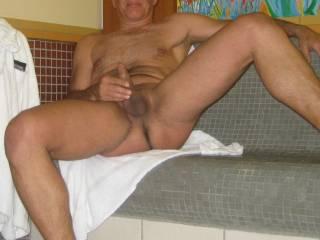 enjoying the public spa