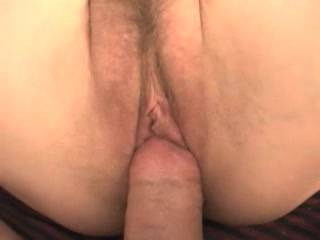 i bury my big thick cock in her tight, creamy, hairy beaver for quite some time.  nice pov if I don\'t say so myself