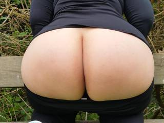 I was out for a stroll and decided to stop and flash my butt!   Slutalicious xx