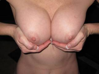 so want to see a picture like this with your hot tits covered in a few good loads of cum