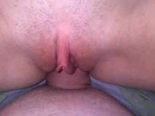 me taking my boyfriends cock deep in my pussy!!