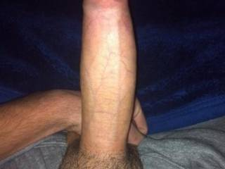 Such a big fat cock! Love the foreskin!