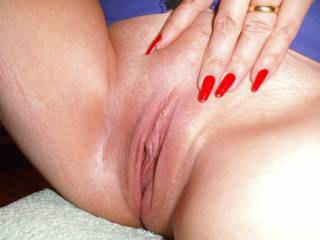 My tongue wants to be your pussys slave. I'm just afraid once I start licking you'll have to pry me off your hot sweet pussy