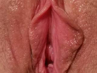 Sweet....so want to tongue, tease and taste that delicious pussy before stretching it wide with my rock hard throbbing cock as I fuck and fill you with hot thick creamy cum.....