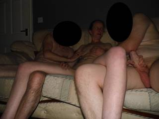 Me & our friend play with Joanne a great way to start a threesome