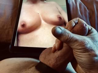 Sexy tits calls for masturbation.