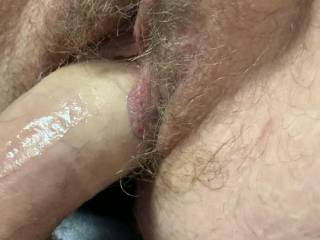 Balls are tight and cock is still twitching as the last of my load is being emptied into Kiki's fat hairy little cunt