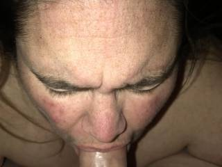 She got surprised by a hot load shooting into her mouth...but she swallowed it all!!!