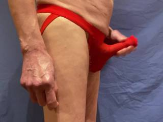 These undies are fun but  there is somewhere else that would far rather be slipping \'Him\'