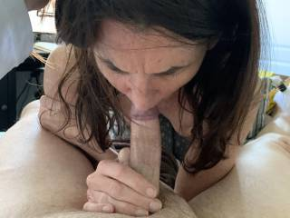Hotel blow job. Getting away always brings out the naughty in her!