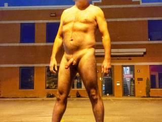 Felt a little daring. Having some nighttime naked fun.